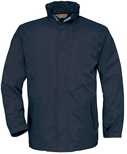 B & C Collection Herren Thermo-Micro Fleece Ocean Shore Jacke Erwachsene Regenmantel Blau - Navy