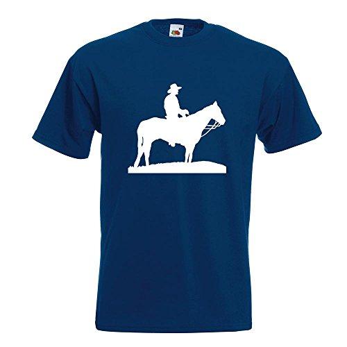 KIWISTAR Cowboy mit Pferd Steppe TShirt in 15 verschiedenen Farben Herren  Funshirt bedruckt Design Sprüche Spruch Motive Oberteil Baumwolle Print  Größe ...