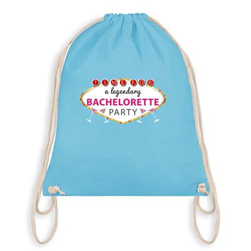 JGA Junggesellinnenabschied - Bachelorette Party Schild - Turnbeutel I Gym Bag Hellblau