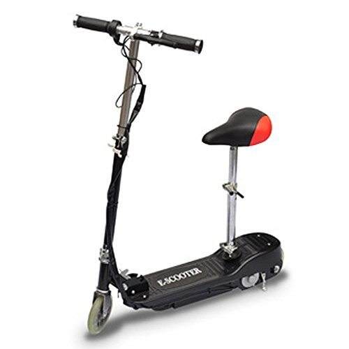 Festnight Patinete Scooter Eléctrico con Asiento 120W Color Negro