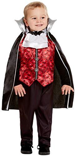 Fancy Ole - Jungen Boy Kinder Vampir Vampyre Dracula Toodler Kostüm, Hose Oberteil und Umhang, perfekt für Halloween Karneval und Fasching, 98-104, Schwarz (Boy Kostüme Vampir)