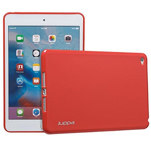 Juppa® Apple iPad Mini 4 2015 TPU Silikon Tasche Hülle Schutzhülle mit LCD displayschutzfolie und Mikro-Reinigungstuch - Rot / - Gel Lg Tablet Case 7
