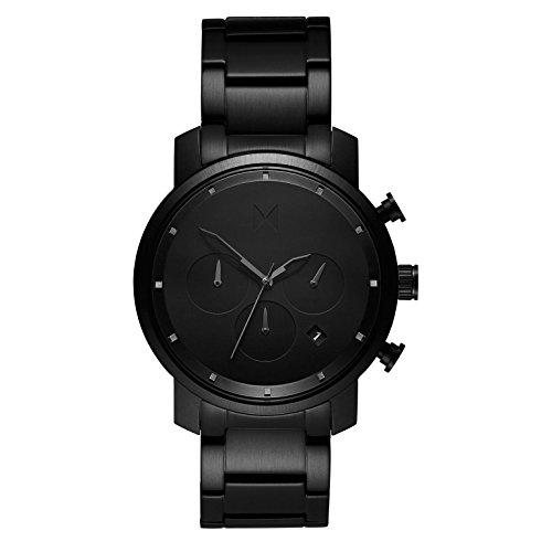 MVMT Herren Chronograph Quarz Uhr mit Edelstahl Armband D-MC02-BB