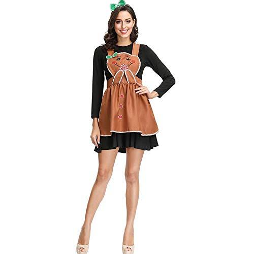 Kostüm Pfannkuchen - LaLaLa Halloween Oktoberfest Mädchen Kleid, Bayerische Tracht, Restaurant Pfannkuchen Rock (3 Stück: Kleid, Kopfbedeckung, Schürze),L