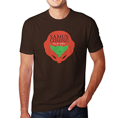 Kostüme Hunter Bounty Männer (Planet Nerd - Samus is coming - Herren T-Shirt, Größe XL,)