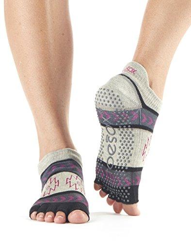 Zehensocken Damen Low Rise Hälfte Fuß Grip rutschfest für Ballett, Yoga, Pilates, Barre Zehen Socken
