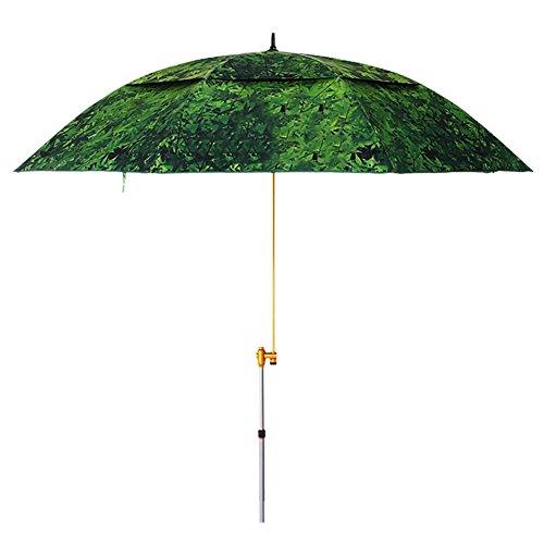 ZHUSAN Angeln Regenschirm Sonnenschutz Universal Falten Ultralight Doppel Oversize Starke Grüne Sonnenschirm Für Garten Hof Balkon Strand Im Freien (Größe : 2.2m)