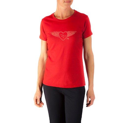 Mountain Khakis Damen Flying Herz Short Sleeve T-Shirt Engine Red