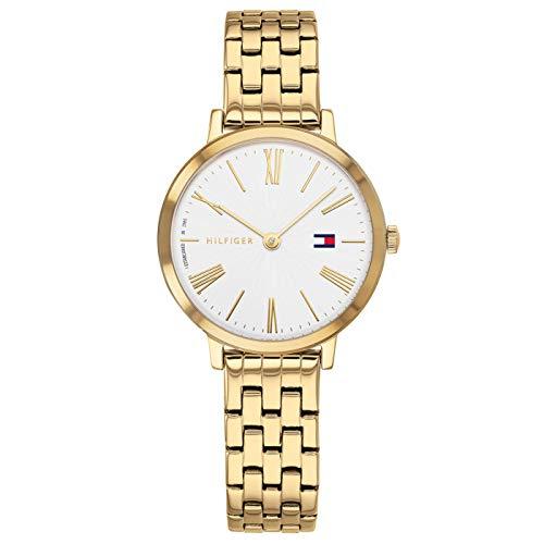Tommy Hilfiger Damen Analog Quarz Uhr mit Edelstahl Armband 1782054