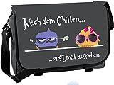 Messenger Bag-Schultasche-Studententasche-Schultertasche-Umhängetasche-Nach dem Chillen ...