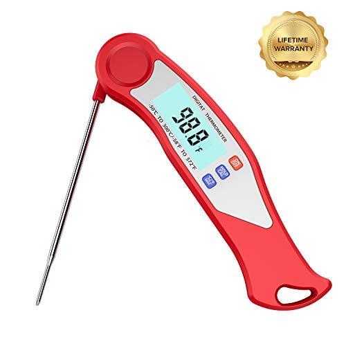 Digitales Fleischthermometer für Kochen, Truthahn, Bluetooth Digital Thermometer purpurrot -