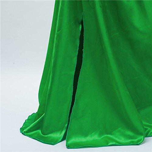 GenialES Costume Principessa Vestito Guanti Verdi lunghi Regalo Carino  Cerimonia Cosplay Festa Compleanno Carnevale Halloween Bambina 2-8 anni 4ff50cb0e07