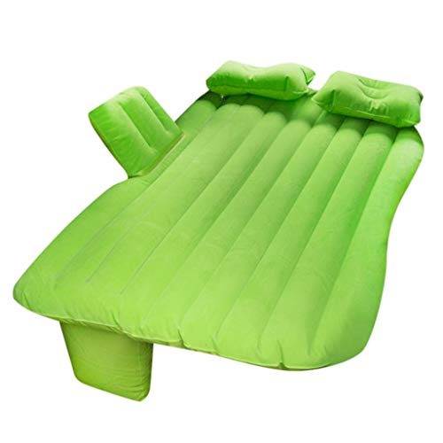 99native Reise Aufblasbares Luftbett Luftbetten, Tragbar Aufblasbare Luftmatratze Luftmatratzen SUV Beflockt Camping Isomatte mit Rückenlehne Kinder Matratze (Grün)