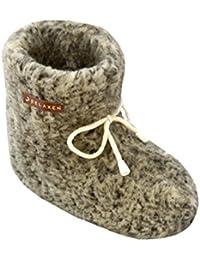 Relaxen Chausson Unisexe Hiver Femmes Pantoufles Hommes Antidérapant Semelle Maison Bottes avec Lacets Arc Mouton de laine 36 à 45 Modèle XF