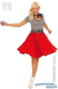 widmann-wdm3367d disfraz Adulto para mujer, Color Rojo y amarillo Azul Rosa, wdm3367d