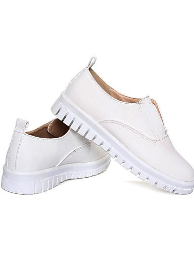 ZQ Scarpe Donna - Ballerine / Mocassini - Casual - Comoda / Punta bicolore - Piatto - Finta pelle - Bianco / Argento / Dorato , golden-us10.5 / eu42 / uk8.5 / cn43 , golden-us10.5 / eu42 / uk8.5 / cn4 white-us9 / eu40 / uk7 / cn41