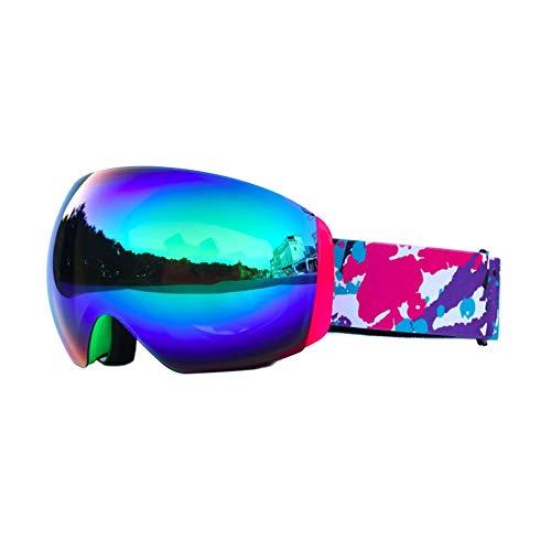 (Daesar Schneebrille für Brillenträger Brille Winddicht Unisex Schutzbrille Beschlagfrei Grün)
