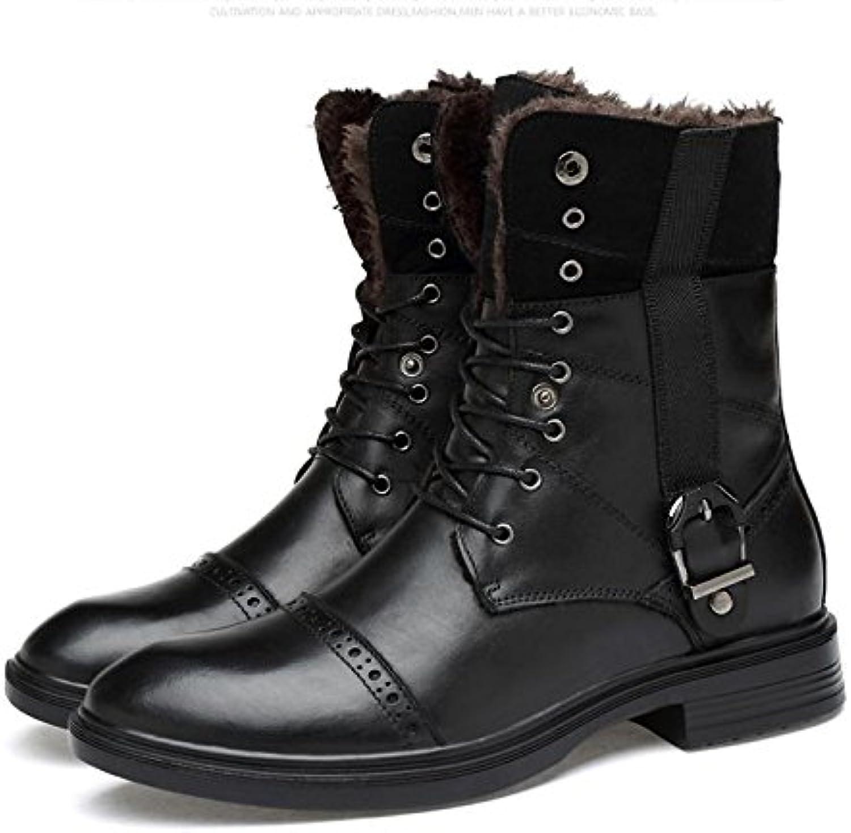 Botas altas de los hombres de invierno m¨¢s la tendencia de la moda grande cl¨¢sico retro , 43 , black
