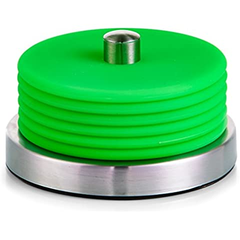 Zeller 27222 posavasos-Set, 7 teilig, acero inoxidable/silicona, verde