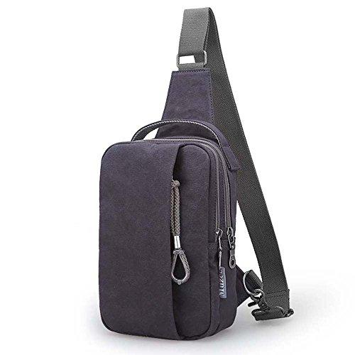ZHANGRONG- Seni degli uomini Sacchetto del messaggero Zaino casuale del sacchetto della tela di canapa tasche Borse a tracolla (Opzionale a colori) ( Colore : 2 ) 2
