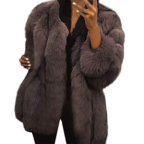 Winter Wintermantel Neue Damenmode Winterjacke Warm Kunstpelz Langarm Sweatjacke Sexy Mantel plus Outwear Winter Oberbekleidung Weihnachten Outdoorjacke Felicove