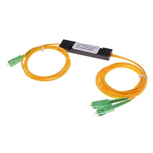 Homyl SC/APC-SC/APC Singlemode Faser Optisches Patchkabel Kabel Jumper SC zu SC Gelb 3ft -