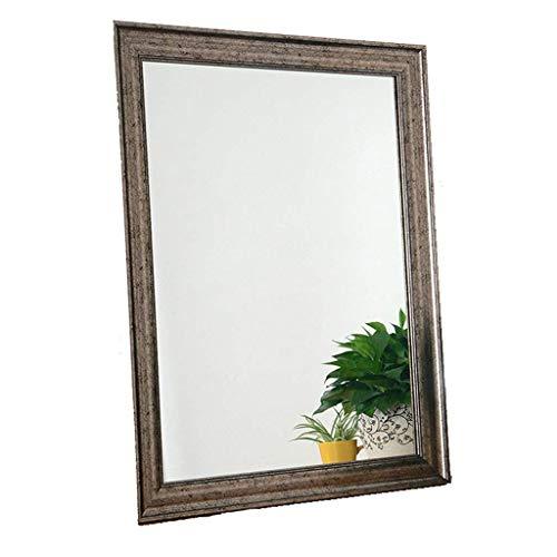 MWPO Antik Silber Wand hängender Spiegel europäischen und amerikanischen Stil Retro Badezimmerspiegel dekorative Eingang Spiegelglas Spiegel Kosmetikspiegel Geschenk (Farbe: ANTIKE - Crackle Glas Antik