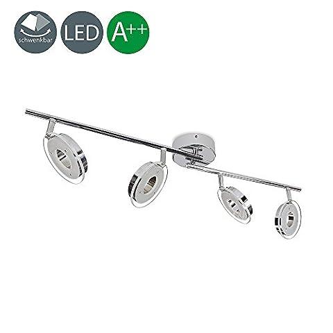 VINGO®24W LED 4-flammig Spot Deckenleuchte 2400LM Deckenspot Wandlampe Leuchte Deckenstrahler Wohnzimmer Deckenleuchte Deckenlampe