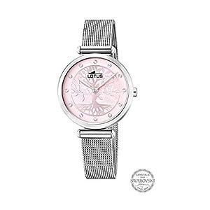 Reloj Lotus Bliss Swarovski 18708/2 Mujer, Esfera Rosa con Árbol de la Vida, Caja 29 MM, Correa Acero