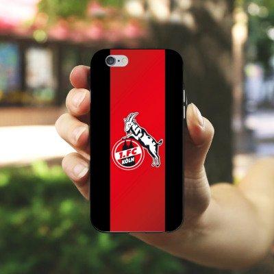 Apple iPhone 8 Plus Hülle Case Handyhülle 1. FC Köln Fanartikel Fussball Silikon Case schwarz / weiß
