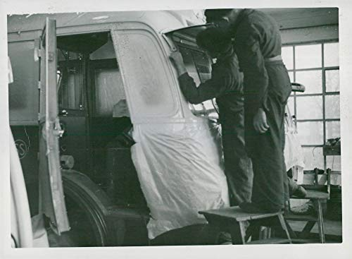 Fotomax Vintage Photo of The Window on a Wire Bus Body at Hägglunds in Gullänget in 1940. Bus Wire