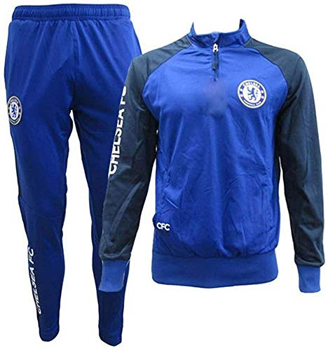 Chelsea F.C. Trainingsanzug - Jacke & Hose - Original Mit Offizieller Lizenz Tracksuit Trainingshose (M MEDIUM)