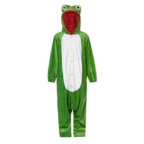 Kostümplanet Frosch-Kostüm Kinder Witziger Overall lustiges Kinder-Kostüm Jungen und Mädchen Tierkostüm Größe 140