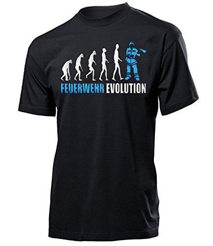 Feuer-jugend-t-shirt (Feuerwehr Evolution Mann Freiwillige Berufs Geburtstag Geschenk Artikel Jubiläum Herren Idee Retten Löschen Bergen Schützen T Shirt)