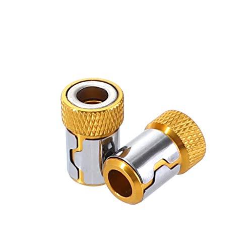 Stahl Brust-tool-box (FiedFikt Universal-Magnetisierer, magnetischer Stahl, für 6,35 mm Schraubendreher-Bits, magnetische Schlaufe, 2 Stück)