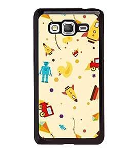 Fuson Designer Back Case Cover for Samsung Galaxy Grand 3 :: Samsung Galaxy Grand Max G720F (Robot Duck Rocket Kite Stars)