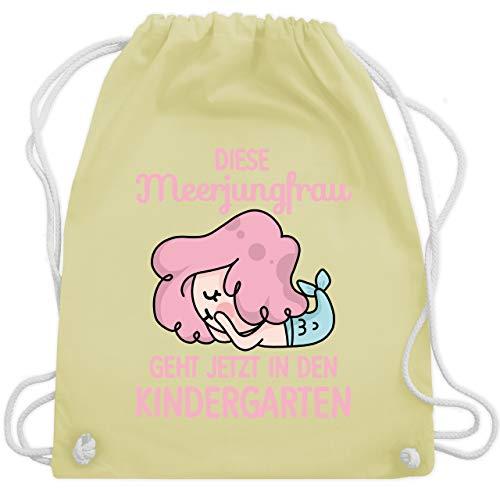 Kindergarten - Diese Meerjungfrau geht jetzt in den Kindergarten - Unisize - Pastell Gelb - WM110 - Turnbeutel & Gym Bag