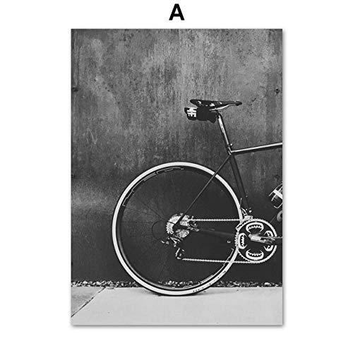 Fahrrad mountainbike landschaft wandkunst leinwand malerei Nordic poster wandbild für wohnzimmer schlafzimmer dekoration