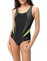 Gwinner Badeanzug Schwimmanzug Sportbadeanzug für Damen mit weichen, herausnehmbaren Körbchen, extra bequem und elastisch, aus hochwertigem Material made in EU Ivana