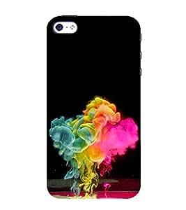 Colour Spurt 3D Hard Polycarbonate Designer Back Case Cover for Apple iPhone 5