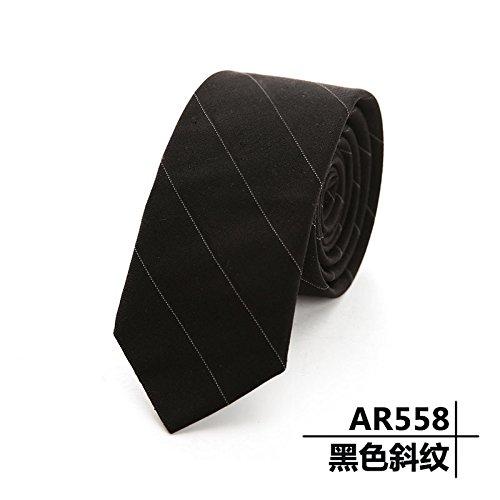 WUNDEPYTIE Business-Casual Britische Streifen, Wolle, Black T} - Britische Streifen-krawatte
