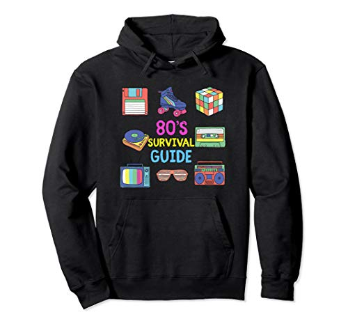 Kostüm 80's Totally - 80er Jahre Survival Guide Retro Alle Dinge 80er Party Pullover Hoodie