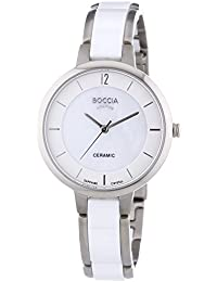 Boccia Damen-Armbanduhr XS Analog Quarz Keramik 3236-01