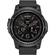 Nixon A1167-001-00 Smartwatch - Reloj cuarzo para hombre, correa de silicona negra