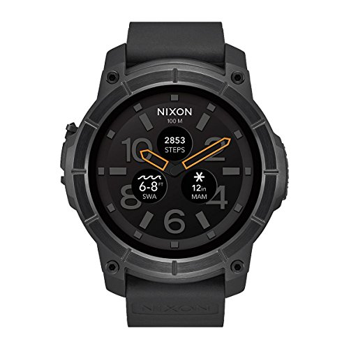 Nixon Men's Analogue Quartz Smartwatch with Silicone Strap - A1167-001-00