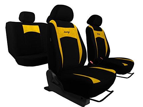 POK-TER-TUNING Sitzbezüge SUPER DESIGN passend für SEAT IBIZA. Schonbezüge, in diesem Angebot GELB (In 6 Farben bei anderen Angeboten erhältlich).