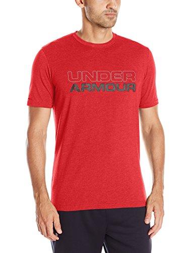 Under Armour Men's Plain Loose Fit T-Shirt (1265929_X-Large_Red/Black)