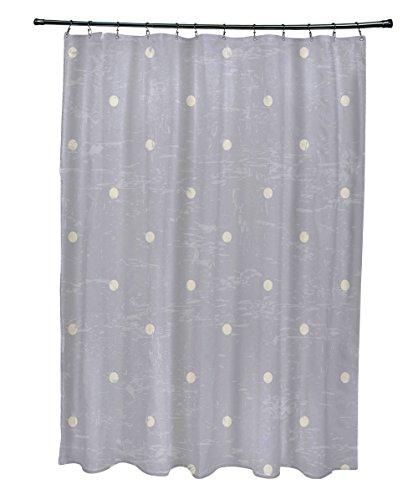 E von Design Dorothy Dot, geometrische Print Vorhang für die Dusche, grau Dorothy Dots