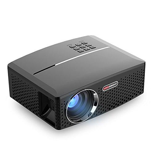 Preisvergleich Produktbild Vivibright Tragbarer Beamer GP80 Mini Video Projektor LCD LED Unterstützt HD 1080P für Heimkino Heimunterhaltung Spiele Partys