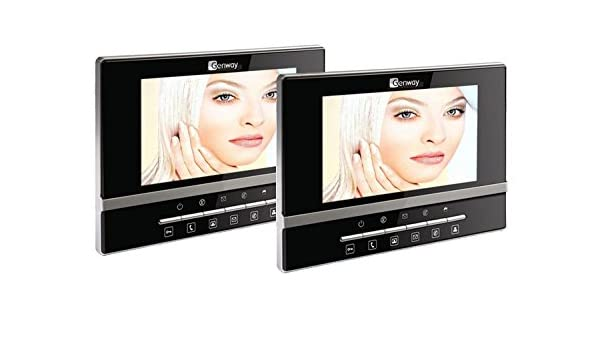2 Monitor Video Door Entry System With Luna Monitors Amazon
